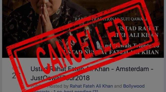 Concert Rahat Fateh Ali Khan afgelast!